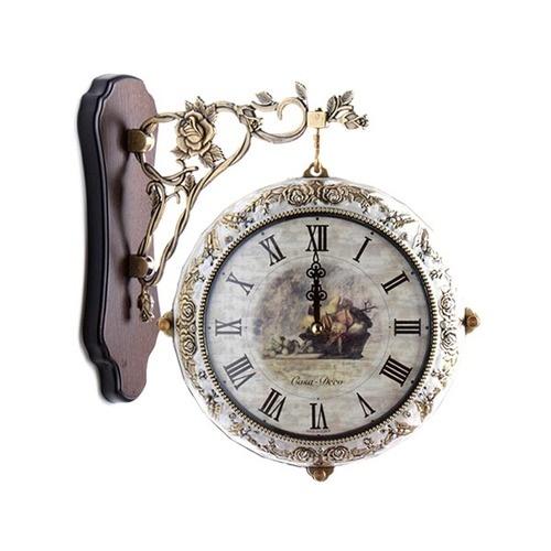 로즈가든 S7008 양면시계 [아이보리/자주]