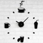 DIY 인테리어 아크릴 벽시계[커피잔][무소음교체 가능]diy벽시계/집들이선물/인테리어시계/디자인시계/온오프마켓/아이리스아트/커피숍벽시계/커피랑어울리는시계/신혼집선물시계/주방시계/집들이선물벽시계/소품시계/아트벽시계/디자인벽시계