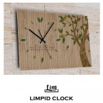 림피드벽시계[RH-016]원목시계/나뭇잎시계/가을나뭇잎시계