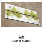 림피드와이드벽시계[CH-043] - 시계+스틱나무벽시계/잔디나무벽시계/집들이용벽시계/특별한선물시계/디자인벽시계/인테리어벽시계