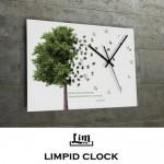 림피드벽시계[CH-073]장식용/모던/심플/나무그림/특별한/벽걸이시계/벽시계/선물시계/쇼핑몰/사이트/벽시계/집들이용/회사벽시계