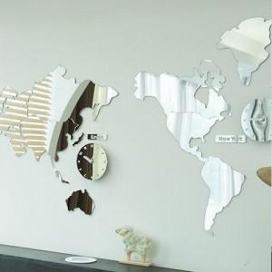 월드타임 무소음벽시계(거울형-시계포함)