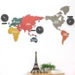 [20%] Eco mix 컬러보드 월드타임 [1370 x 630]세계시계,세계벽시계,벽걸이시계,무소음벽시계,모던디자인,디자인시계,인테리어시계,