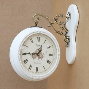 큐빅양면시계(화이트)