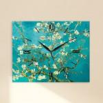 임프레이션 아몬드나무-고흐 벽시계꽃그림/하늘색/자연/