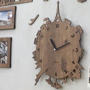 지구여행 무소음벽시계
