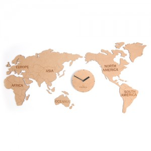 World Map Clock (Natural) [830 x 400]
