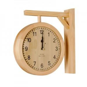 라운드양면벽시계(베이지)