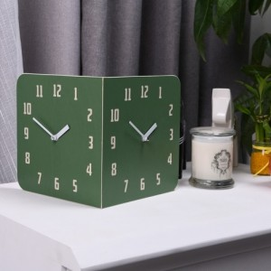 Morden Retro Round Corner Clock (Forest Green)