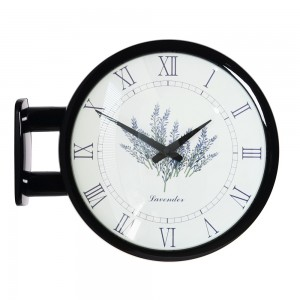 Morden Double Clock Lavender(Black)