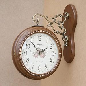 큐빅양면시계(월넛)