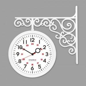 모던 양면시계[TD-A2 화이트/브라운 색상선택]