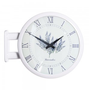 Morden Double Clock Lavender(White)