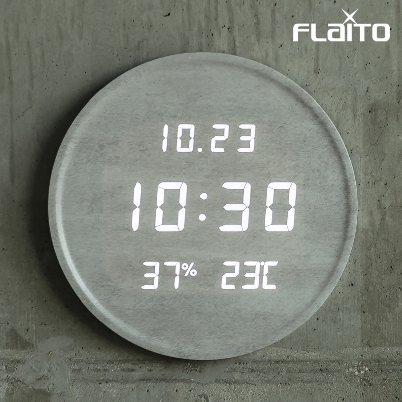 플라이토 루나 온습도 LED 벽시계 29.5cm